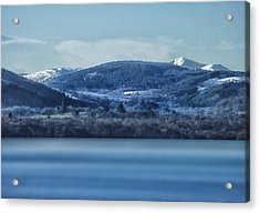 Loch Ness Winter Blues Acrylic Print by Jacqi Elmslie