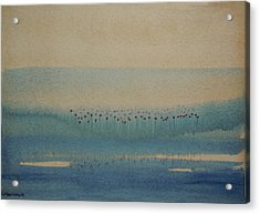 Acrylic Print featuring the painting Loch Of My Heart by Mini Arora