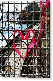 Acrylic Print featuring the photograph Lock And Love.cinque Terre.italy by Jennie Breeze