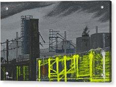 Lock Lane Acrylic On Canvas Acrylic Print