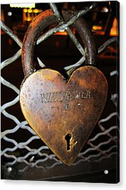 Lock Of Love Acrylic Print by Kym Backland
