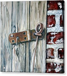Acrylic Print featuring the painting Locked by Anna-maria Dickinson