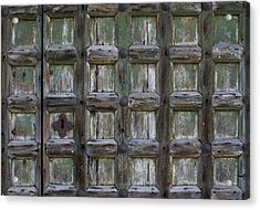 Acrylic Print featuring the digital art Locked Door by Ron Harpham