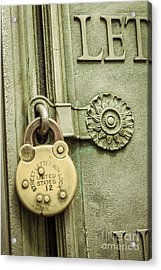 Locked Acrylic Print by Lee Wellman
