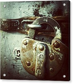 Locked Acrylic Print by Nathalie Longpre