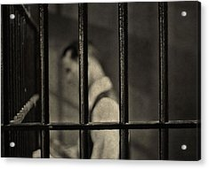 Locked Up Black And White Acrylic Print by Dan Sproul
