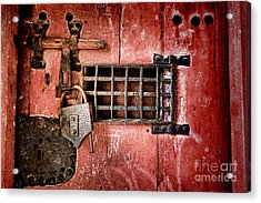 Locked Up Acrylic Print by Olivier Le Queinec