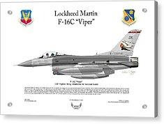 Lockheed Martin F-16c Viper Acrylic Print by Arthur Eggers