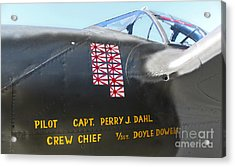 Lockheed P-38 - 162 Skidoo - 03 Acrylic Print by Gregory Dyer