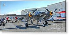 Lockheed P-38 - 162 Skidoo - 06 Acrylic Print by Gregory Dyer