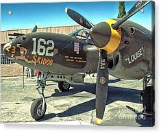 Lockheed P-38 - 162 Skidoo - 07 Acrylic Print by Gregory Dyer