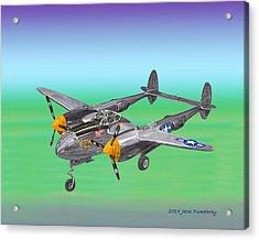 Lockheed P 38 Lightning Acrylic Print by Jack Pumphrey
