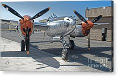 Lockheed P-38l Lightning Honey Bunny  - 01 Acrylic Print by Gregory Dyer