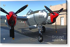Lockheed P-38l Lightning Honey Bunny  - 02 Acrylic Print by Gregory Dyer