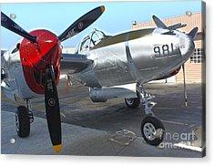Lockheed P-38l Lightning Honey Bunny  - 03 Acrylic Print by Gregory Dyer