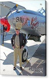 Lockheed P-38l Lightning Honey Bunny  - 06 Acrylic Print by Gregory Dyer