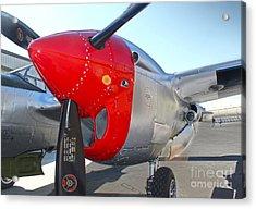 Lockheed P-38l Lightning Honey Bunny  - 07 Acrylic Print by Gregory Dyer
