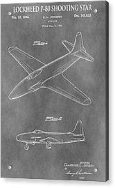 Lockheed P-80 Shooting Star Acrylic Print