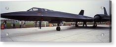 Lockheed Sr-71 Blackbird On A Runway Acrylic Print