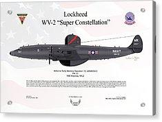 Lockheed Wv-2 Super Constellation Aewron13 Acrylic Print by Arthur Eggers