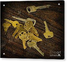 Locksmith - Rejected Keys Acrylic Print by Paul Ward
