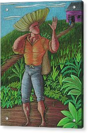 Acrylic Print featuring the painting Loco De Contento by Oscar Ortiz