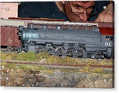 Locomotive 91 Acrylic Print by Hugh McClean