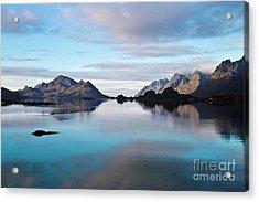 Lofoten Islands Water World Acrylic Print by Heiko Koehrer-Wagner