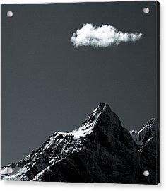 Lofoten Peak Acrylic Print by Dave Bowman
