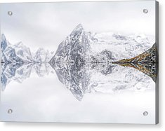 Lofoten Reflection Acrylic Print by Ignacio Palacios