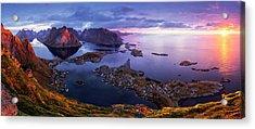 Lofoten Sunrise Acrylic Print by Sorin Tanase