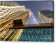 Lofty Heights - Cracked Shapes Acrylic Print by Juergen Schonnop