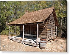 Acrylic Print featuring the photograph Log Cabin by Charles Beeler