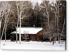 Acrylic Print featuring the photograph Log Cabin by Courtney Webster