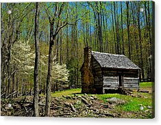 Log Cabin In The Smoky Mountain National Park Acrylic Print