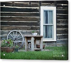 Log Cabin Acrylic Print by Juli Scalzi