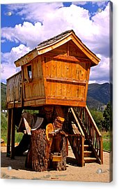 Log Cabin Penthouse Acrylic Print by Jeff Gater
