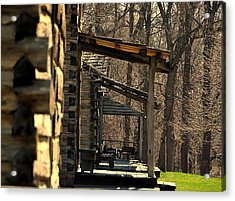 Log Cabins Acrylic Print