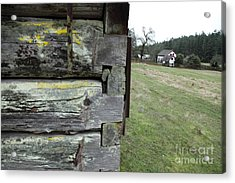 Log House Detail Acrylic Print by Graham Foulkes