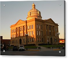 Logan County Courthouse  Lincoln Acrylic Print