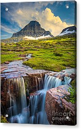Logan Pass Landscape Acrylic Print by Inge Johnsson
