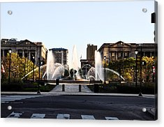 Logan Square Philadelphia Acrylic Print by Bill Cannon