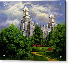 Logan Utah Temple Pathway To Heaven Acrylic Print