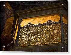Loge Of The Sultan In Hagia Sophia  Acrylic Print by Artur Bogacki