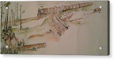 logging in Pacific N.W. Acrylic Print