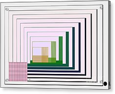 Logical Record Acrylic Print by Leo Symon