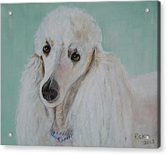Lola Blue - Painting Acrylic Print by Veronica Rickard