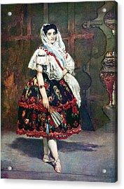 Lola Of Valencia Acrylic Print by Edouard Manet