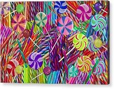 Lolly Pop Twists Acrylic Print by Alixandra Mullins