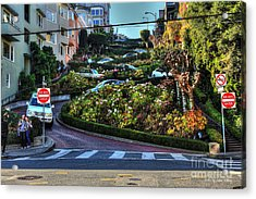 Acrylic Print featuring the photograph Lombard Street  by Kevin Ashley